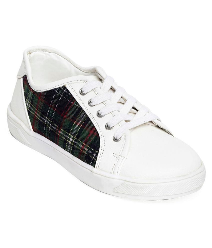 Bruno Manetti Unisex Kids White Faux Leather Sneakers