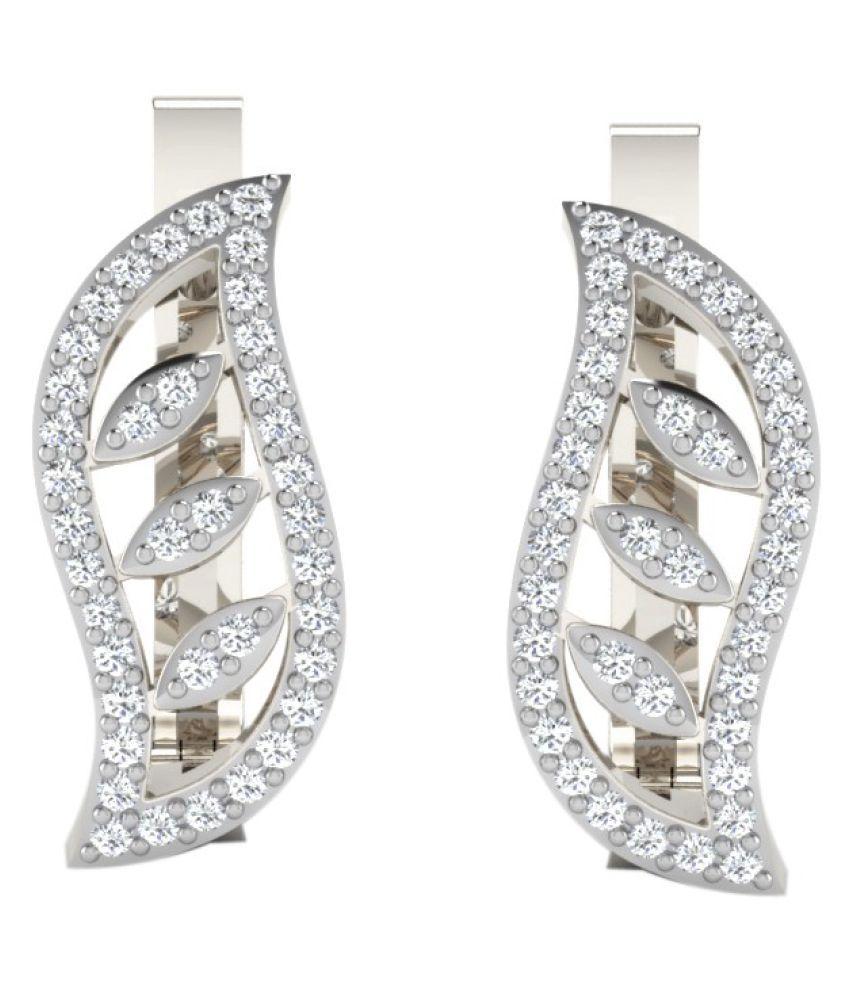 His & Her 92.5 Silver Diamond Hoop