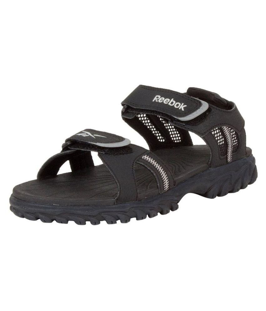 97287ada7 Reebok V48195-10 Black Sandals Price in India- Buy Reebok V48195-10 Black  Sandals Online at Snapdeal