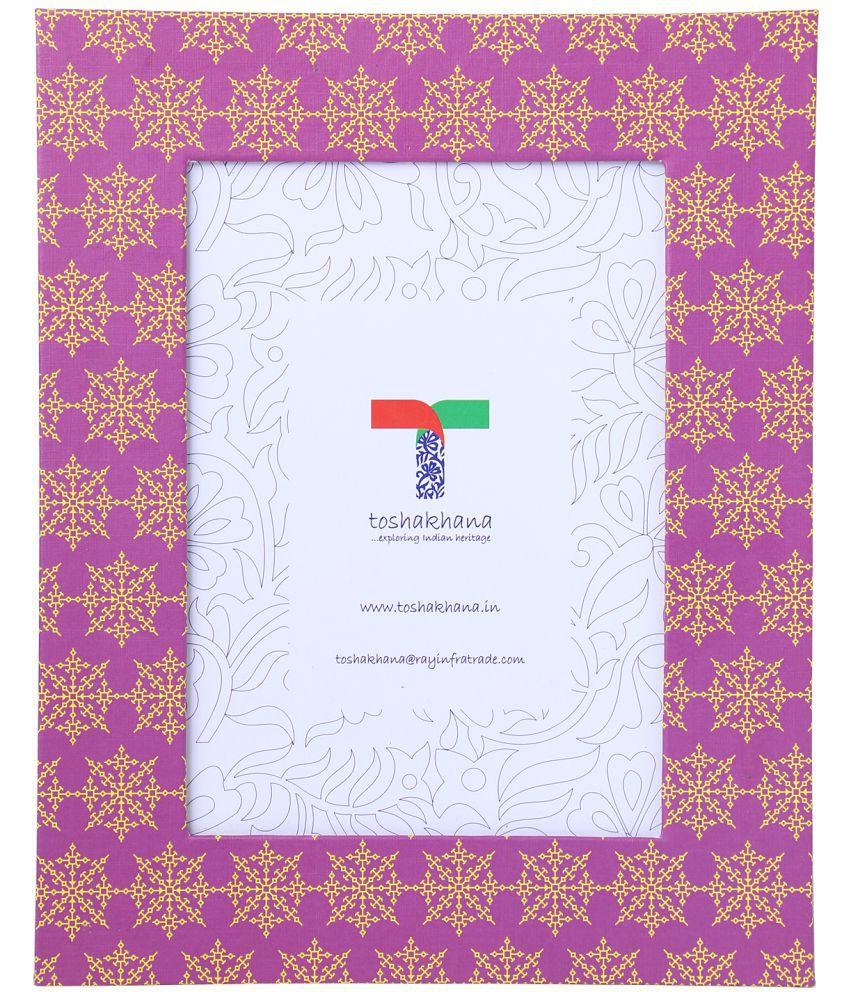 toshakhana Paper TableTop Purple Single Photo Frame - Pack of 1