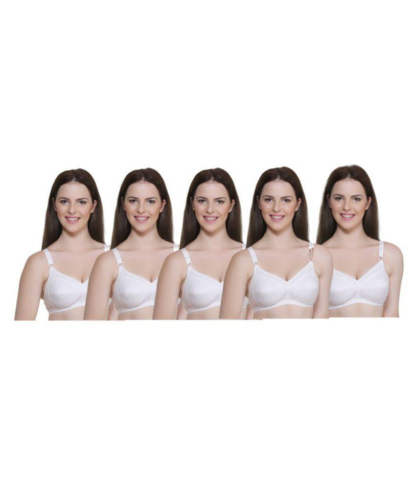 In Beauty Cotton Lycra Push Up Bra - White