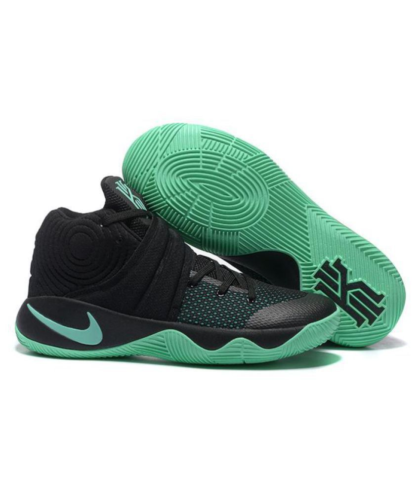"Nike Kyrie 2 ""GREEN GLOW"" Black Basketball Shoes ..."