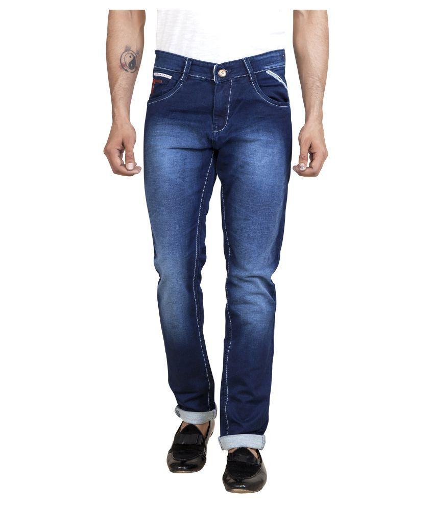 ROAD ROCKERS Navy Blue Skinny Jeans
