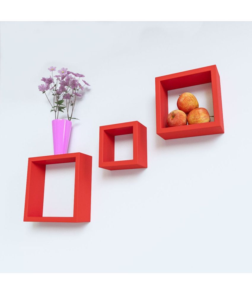 Royals Floating Shelf/ Wall Shelf / Storage Shelf/ Decoration Shelf Red - Pack of 1