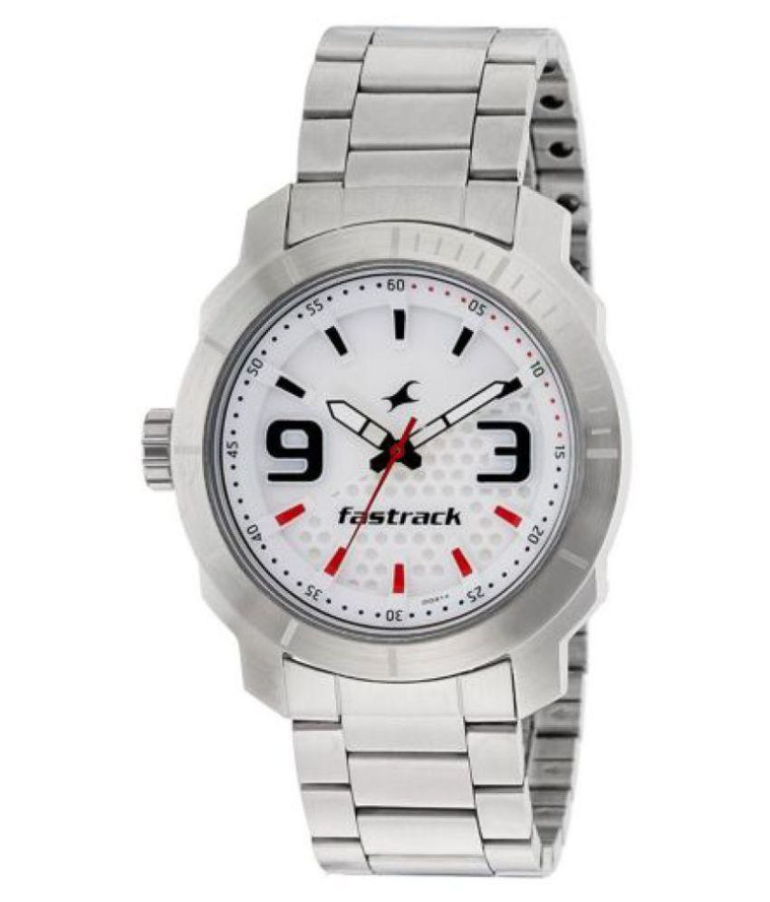 Fastrack Loopholes Analog White Dial Men's Watch 3168SM01