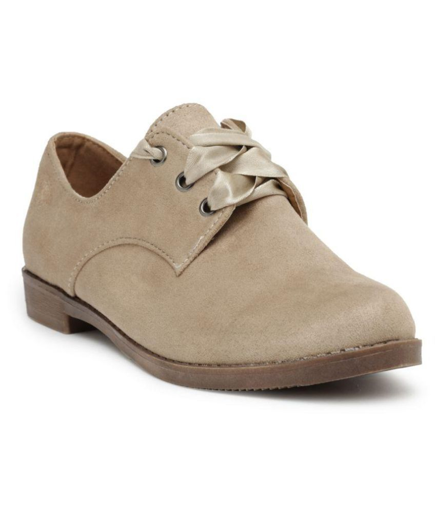 Flat n Heels Beige Ankle Length Chukka