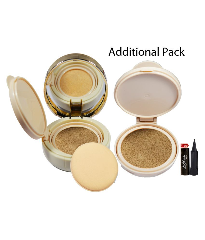 Glam21 Multifunctional 02 Color Control Cushion Compact Powder With Free Laperla Kajal