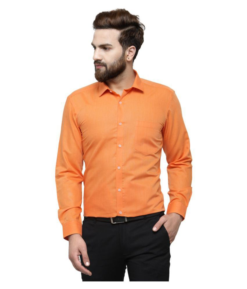 RG Designers Peach Slim Fit Formal Shirt