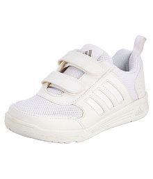 Adidas Boy's Flo K School White Velcro School Shoes