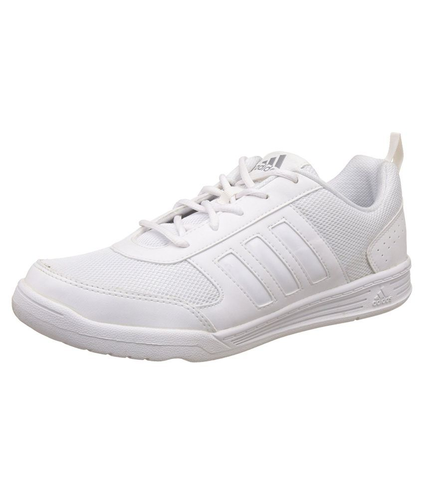 Adidas Boy s Flo White Lace School shoes  b19b70147