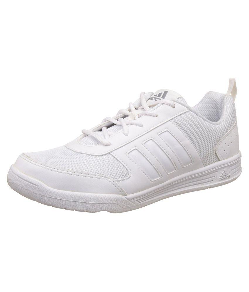 9855fd5038c7 Adidas Boy s Flo White Lace School shoes