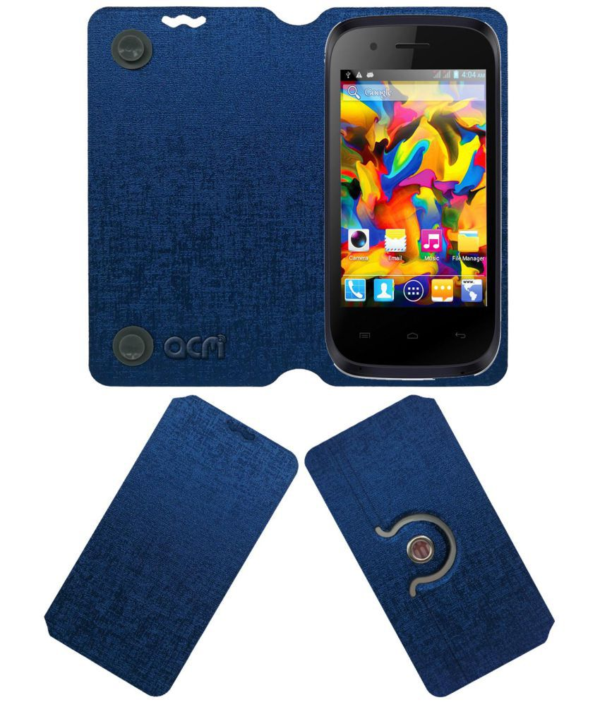 Intex CLOUD X5 Flip Cover by ACM - Blue