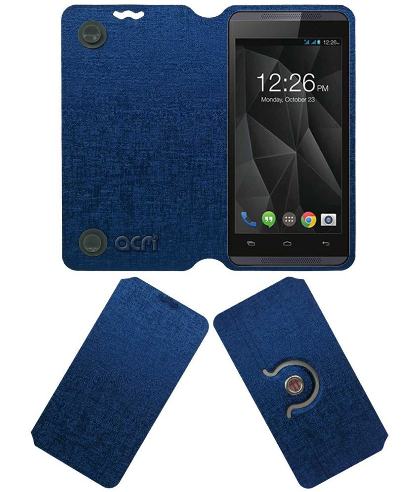 Micromax Canvas Fire 4 A107 Flip Cover by ACM - Blue