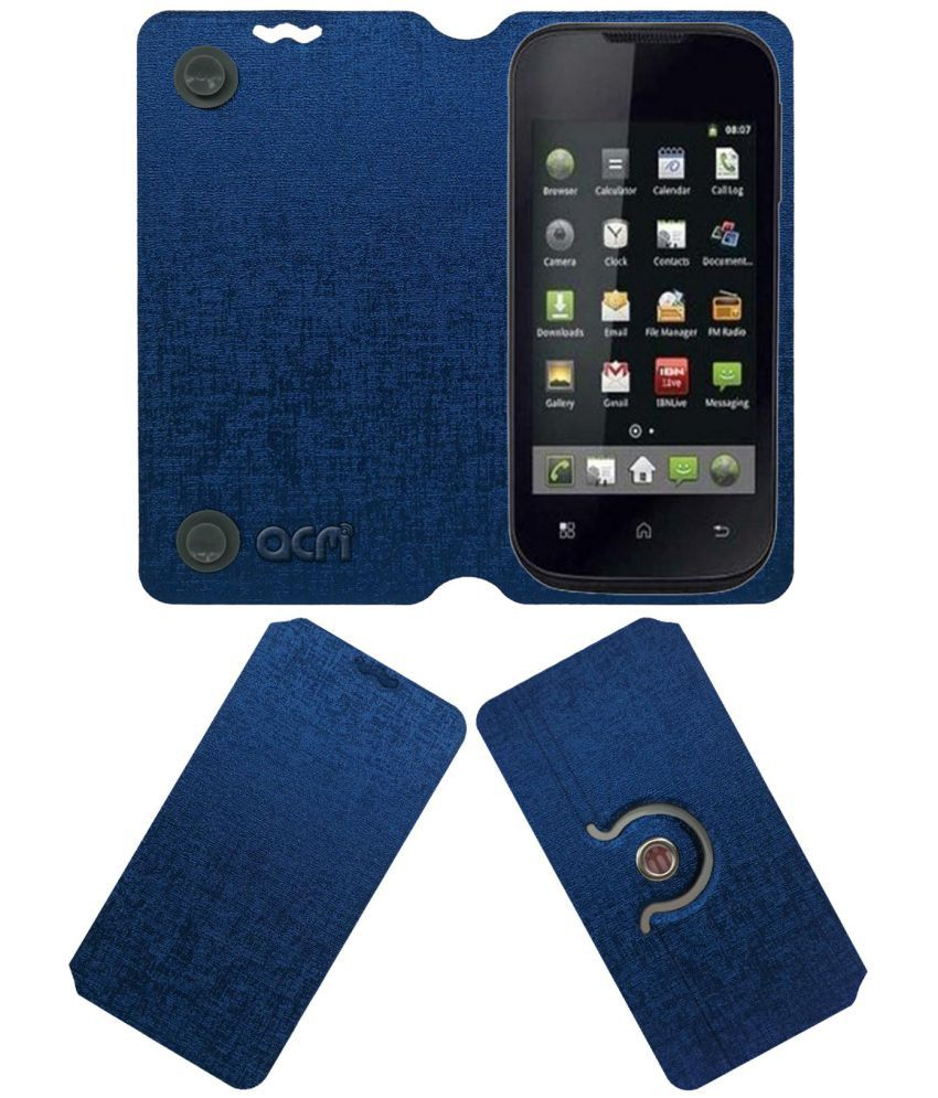 iBall Andi 3.5r Flip Cover by ACM - Blue