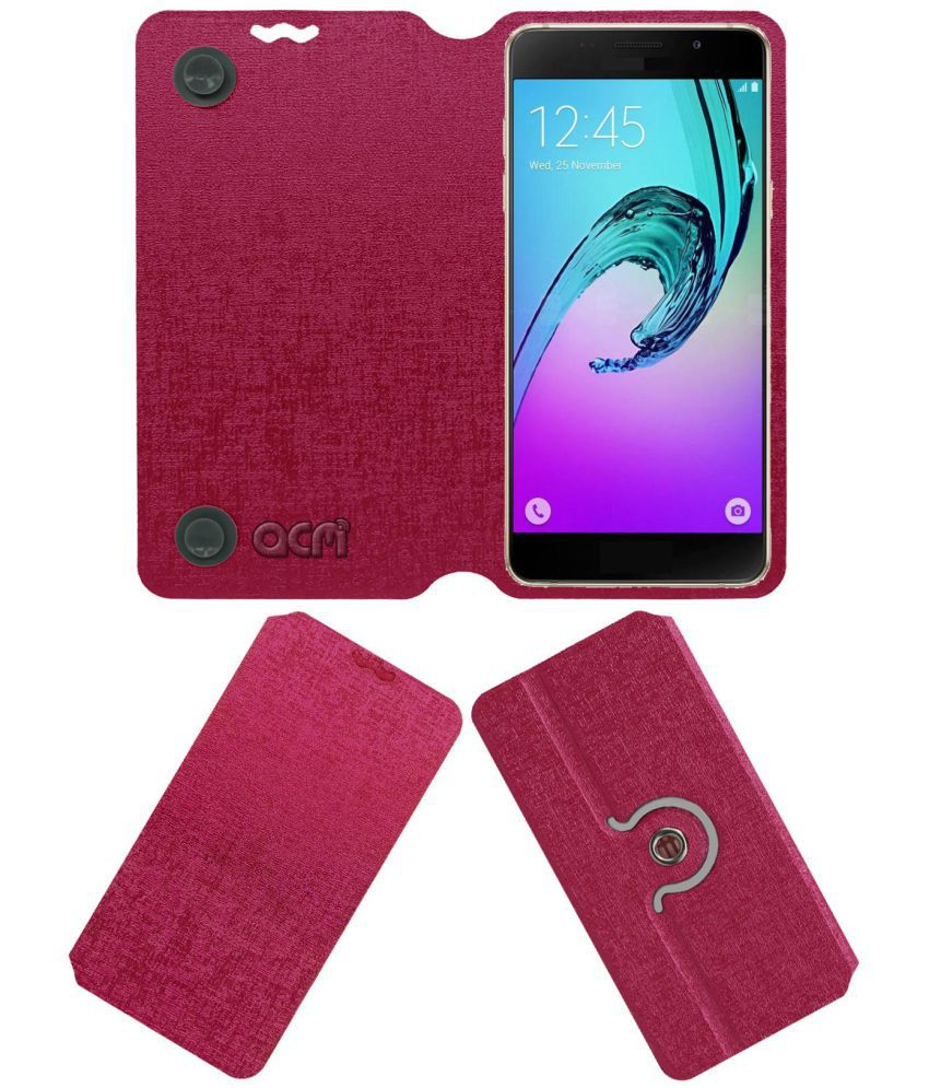Fly Iq4518 Flip Cover by ACM - Pink