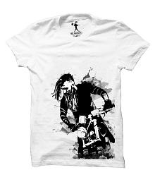 Be Awara White Round T-Shirt