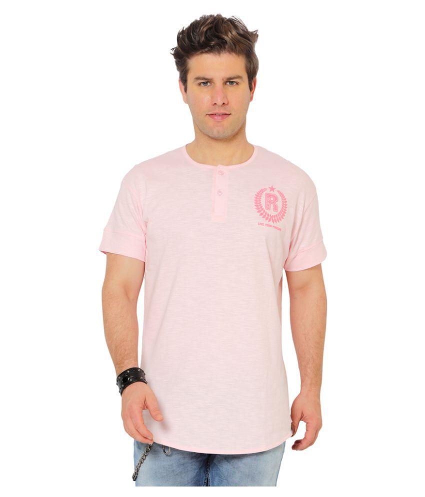 Ricochet Pink Henley T-Shirt