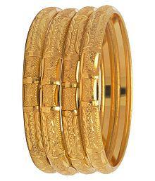 Mansiyaorange Original Look One Gram Gold Bangles For Women