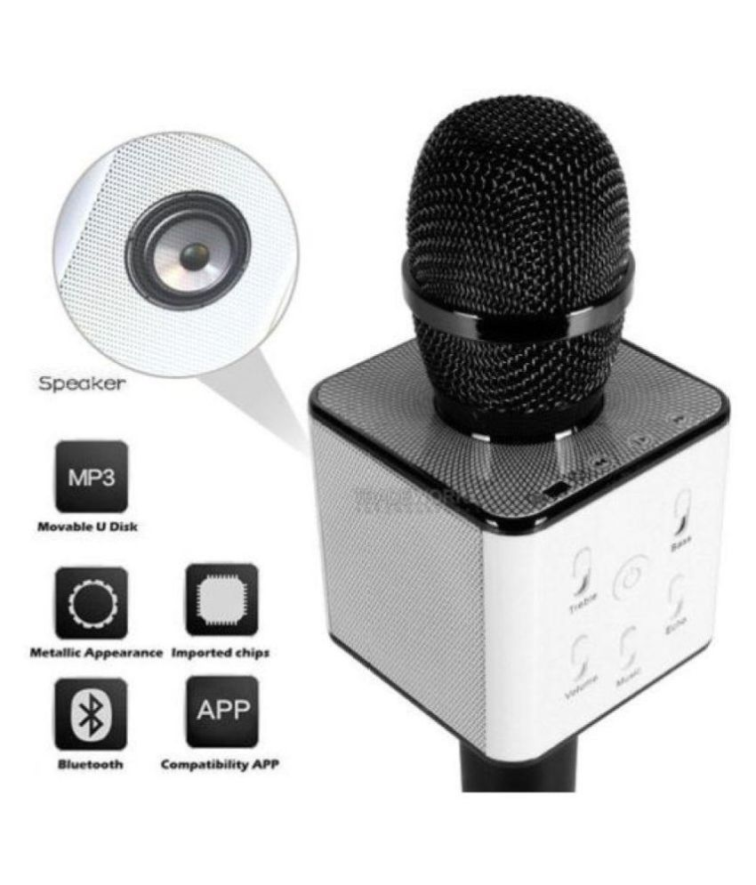 Like Star Bluetooth Karaoke Singing Q7 Mic Speaker Wireless Wireless  Microphone