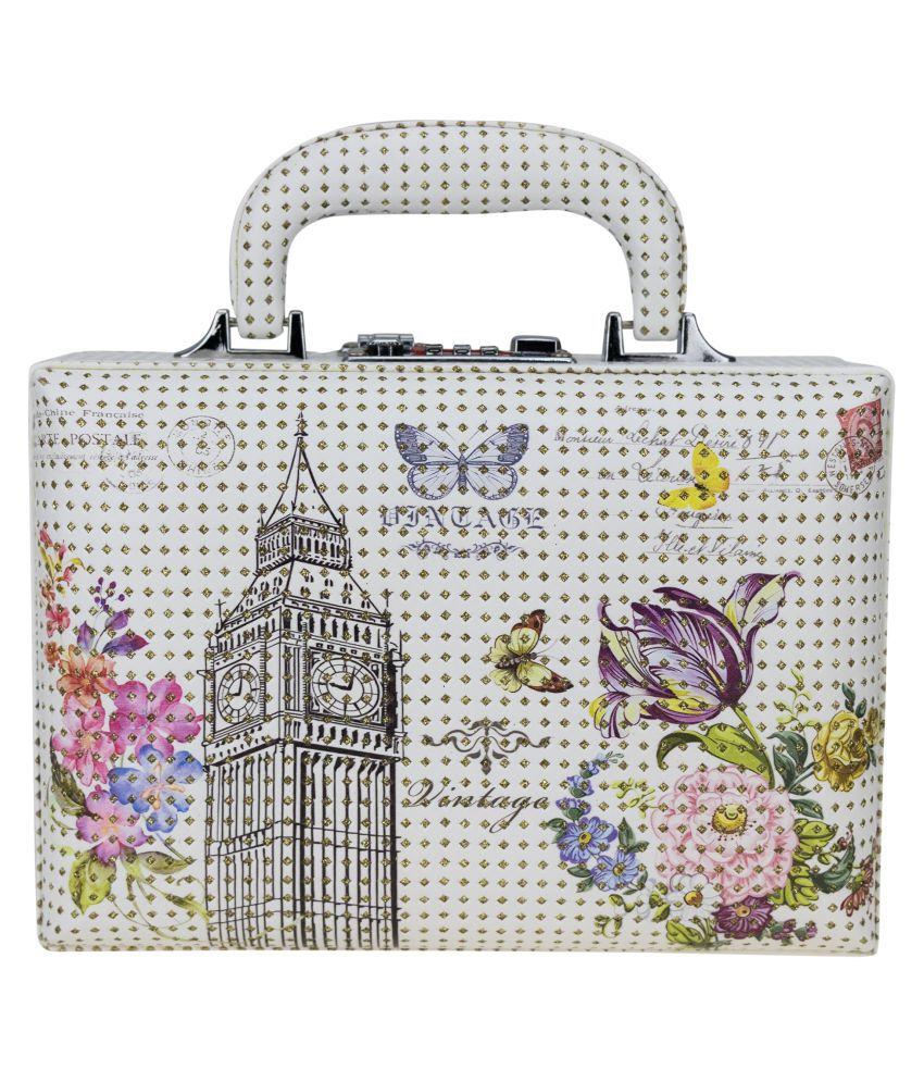 ZEVORA Briefcase London Tower Cosmetic Organizer Makeup Storage Jewellery Travel Vanity Box