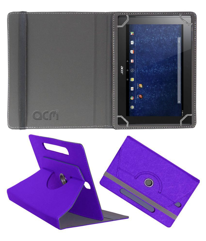 Acer Iconia Tab 10 A3 30 Flip Cover By ACM Purple