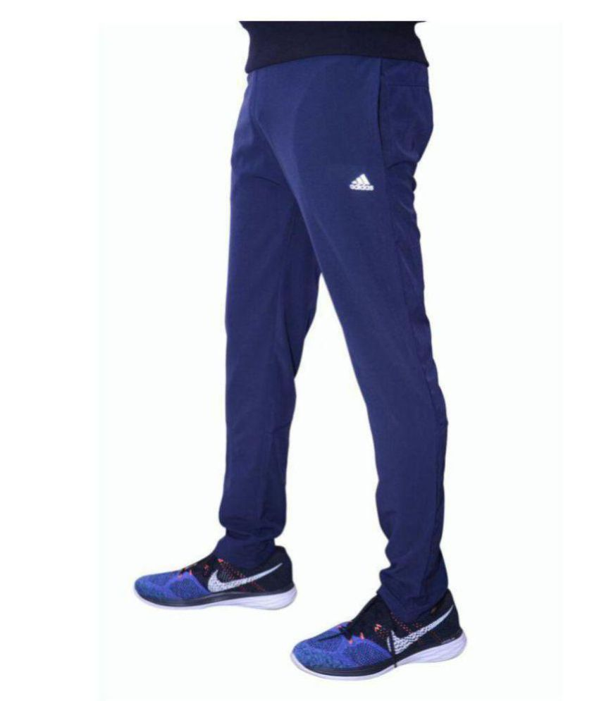Alini Navy Blue Polyester Trackpant (With signature of Adidas)