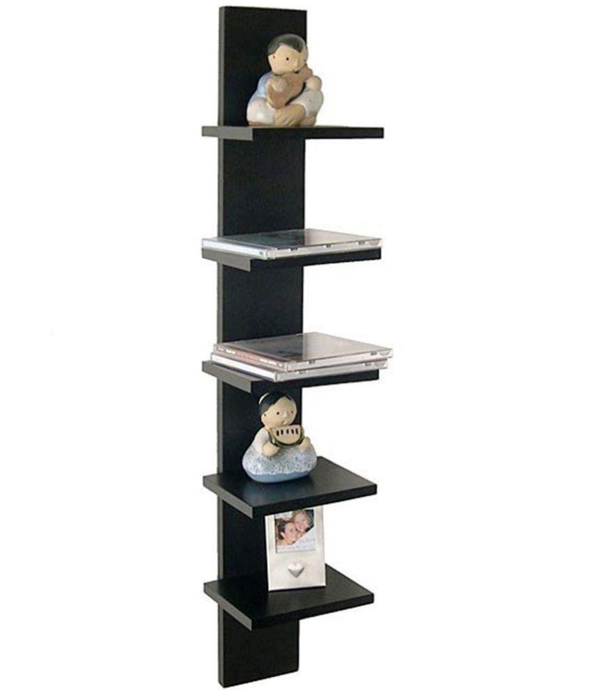 Royals Floating Shelf/ Wall Shelf / Storage Shelf/ Decoration Shelf Black - Pack of 1