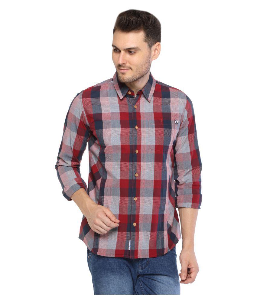 Starsy Maroon Regular Fit Shirt