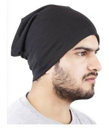 9da2e7aaf6760 Quick View. Babji Cool Look Solid Black Beanie Skull Slouchy Cotton Caps ...