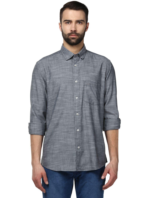 Colorplus Grey Regular Fit Shirt