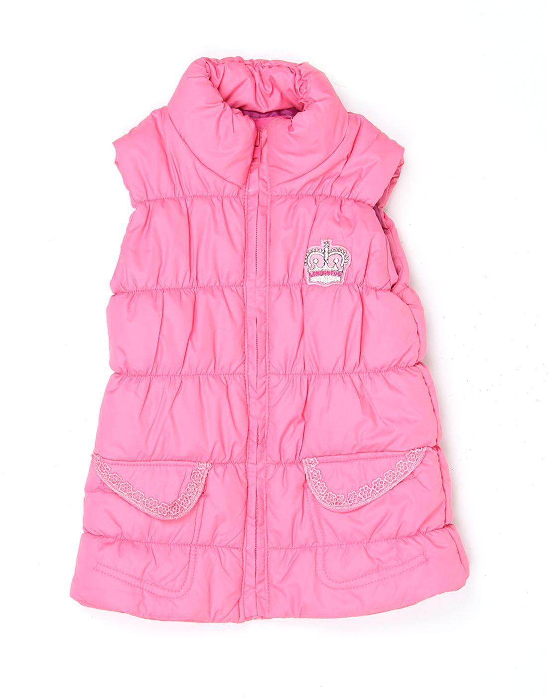London Fog Girls Pink Sleeveless Jacket