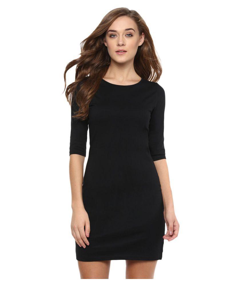 Miss Chase Cotton Black Dresses