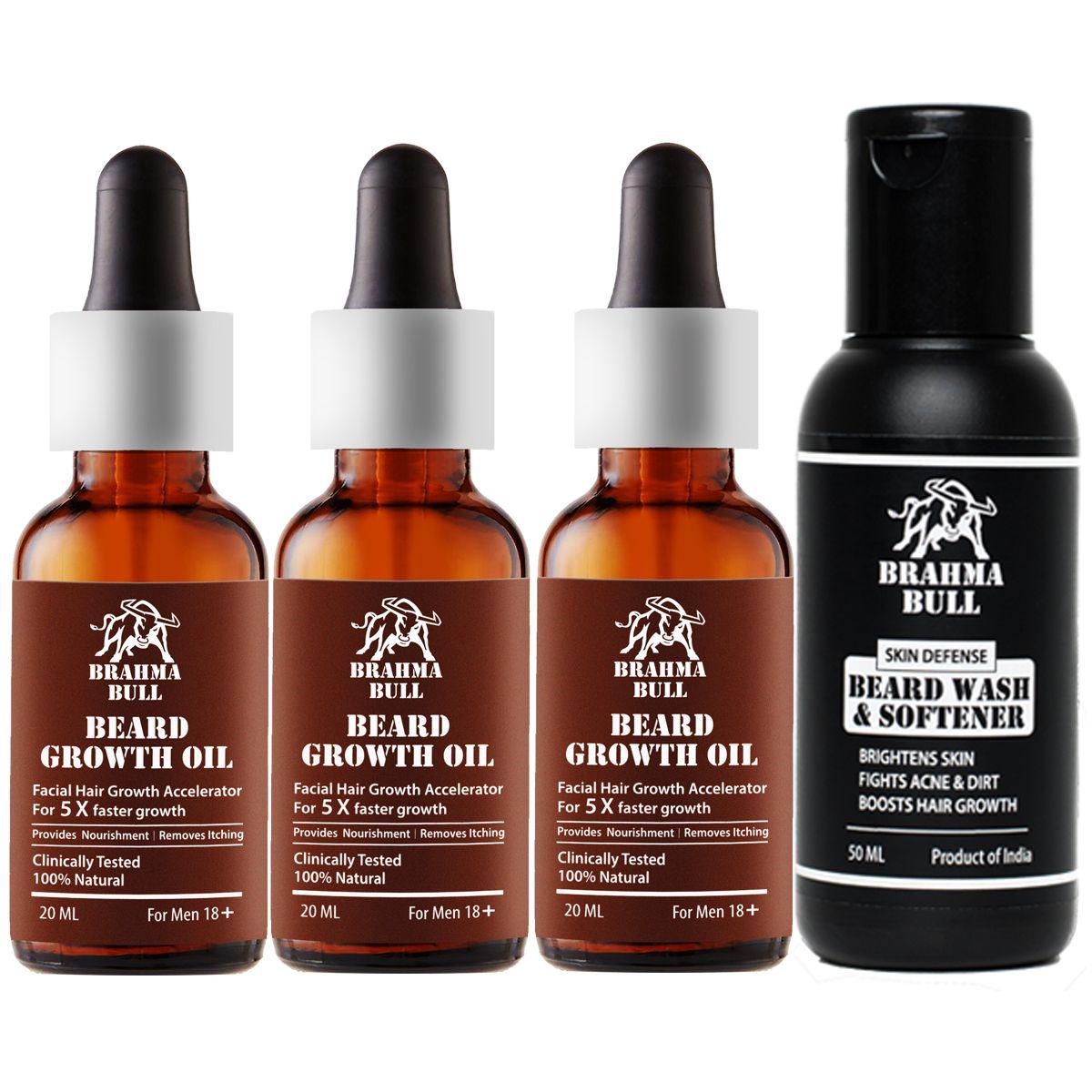 Brahma Bull Growth Kit Beard Oil 110 ml: Buy Brahma Bull ...