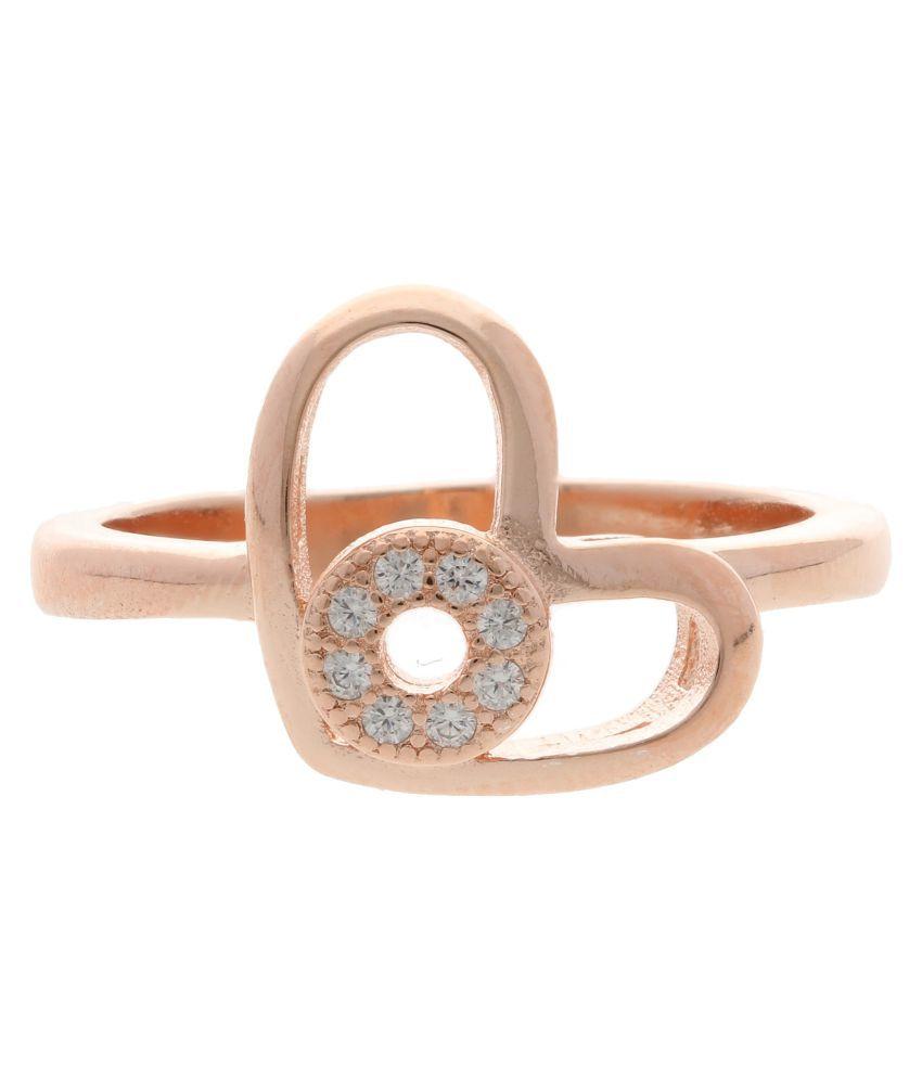 Aretha Jewels 92.5 Rose Gold Ring