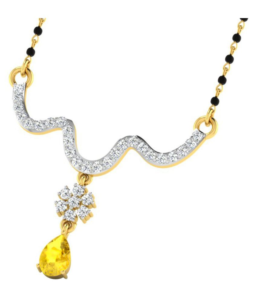 His & Her 18k Yellow Gold Sapphire Mangalsutra
