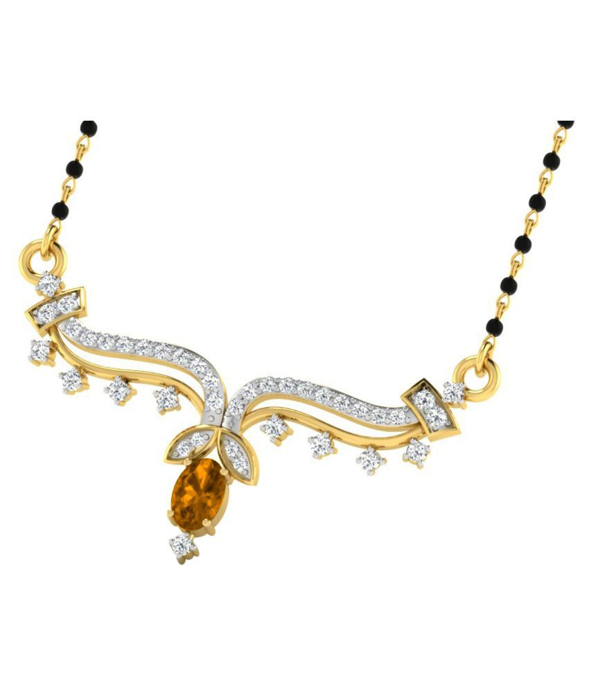 His & Her 18k Yellow Gold Citrine Mangalsutra