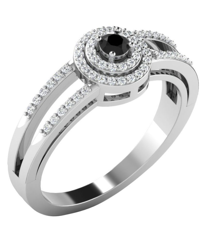 His & Her 9k White Gold Ring