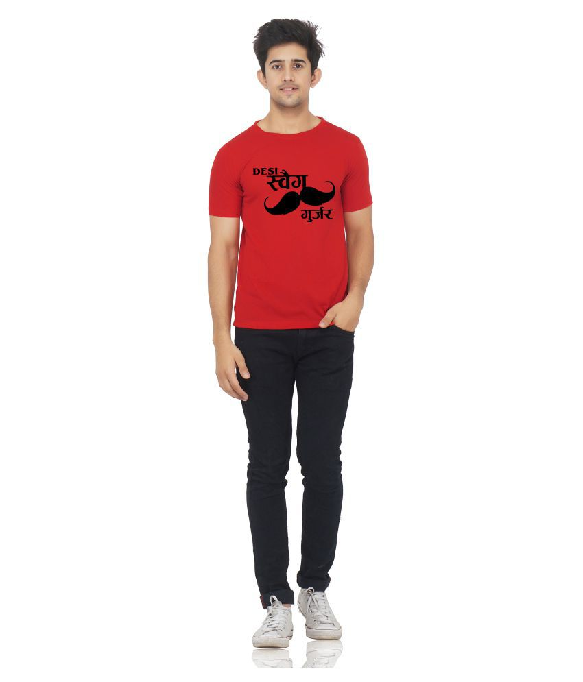 M R MARC ROSE Red Round T-Shirt Pack of 1