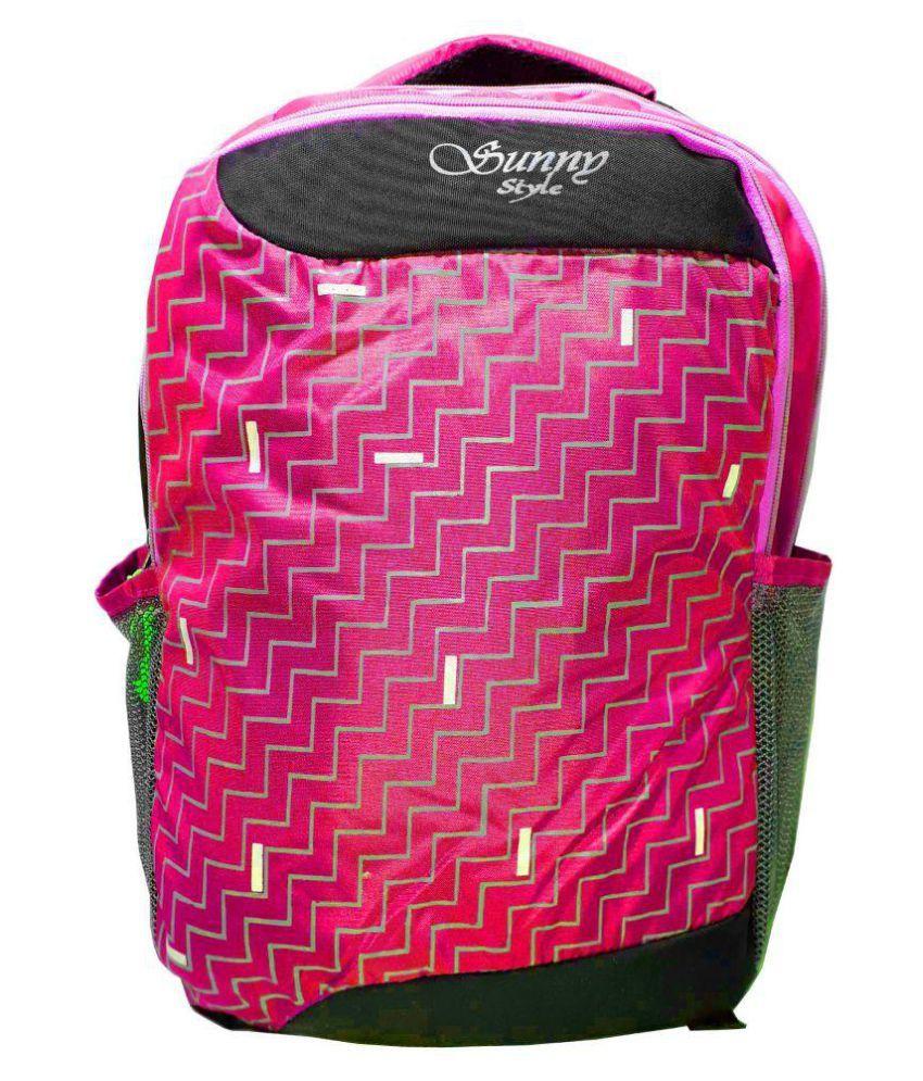 RAHMAN BAGS Pink Polyster Backpack