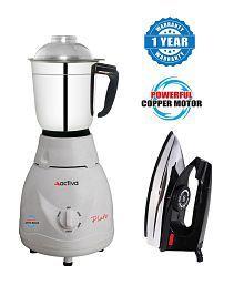 Activa 500 Watt 1 Jar Mixer Grinder with Electric iron