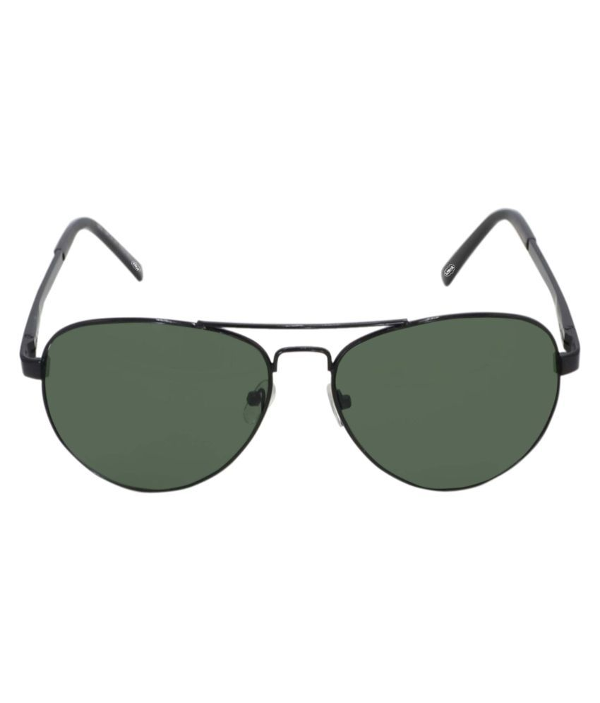 LOMAK Green Aviator Sunglasses ( LOAVGRBL092 )