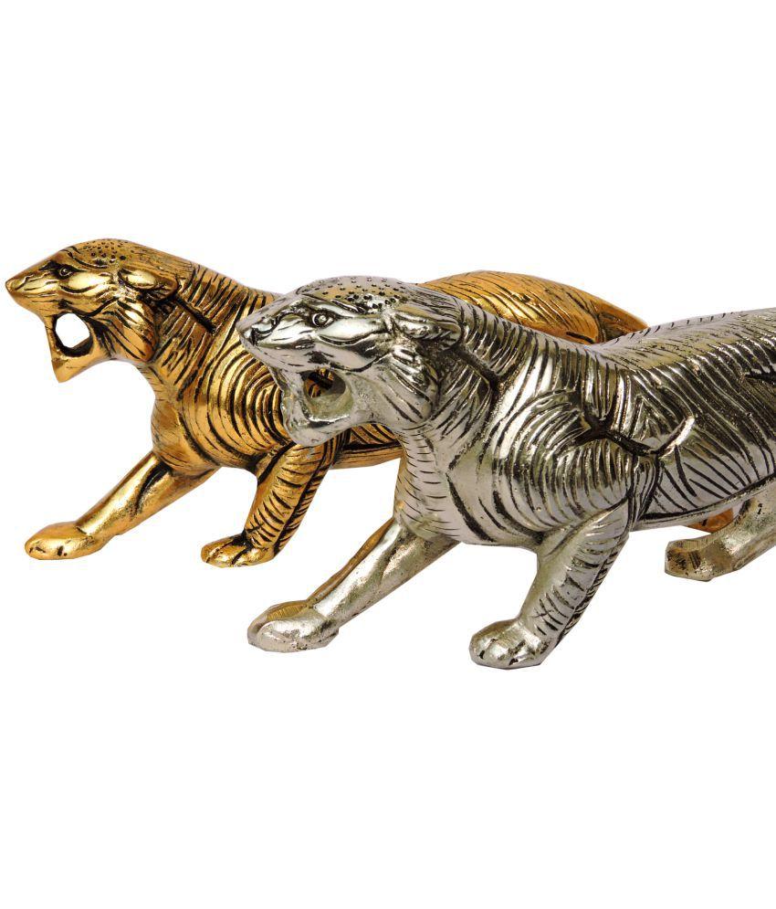 ARIHANTT Gold Aluminium Handicraft Showpiece - Pack of 2