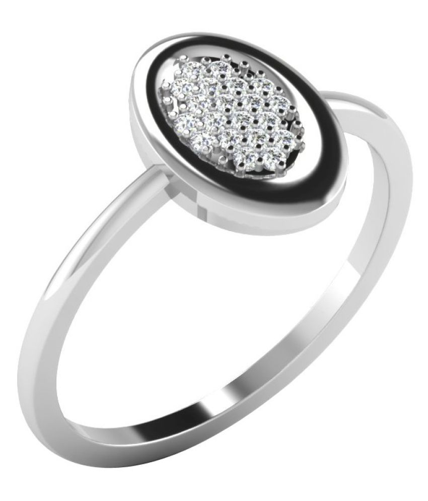 His & Her 18k White Gold Ring