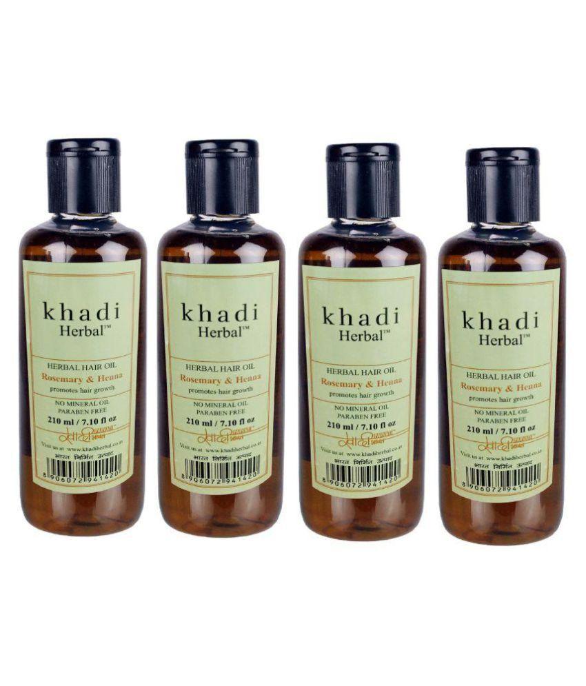 Khadi Herbal Rosemary Henna Hair Oil 840 Ml Pack Of 4 Buy Khadi