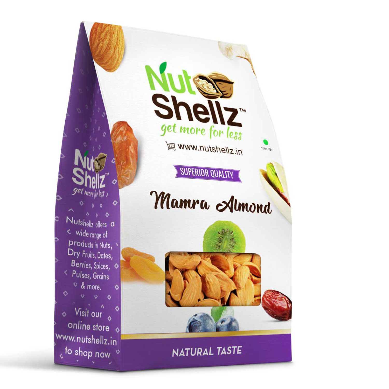 Nutshellz Regular Almond (Badam) Mamra 500 gm