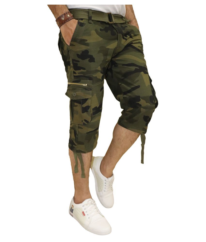 DREAM VISION Green Regular -Fit Flat Cargos