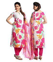 Kanooda Prints Multicoloured Crepe Dress Material