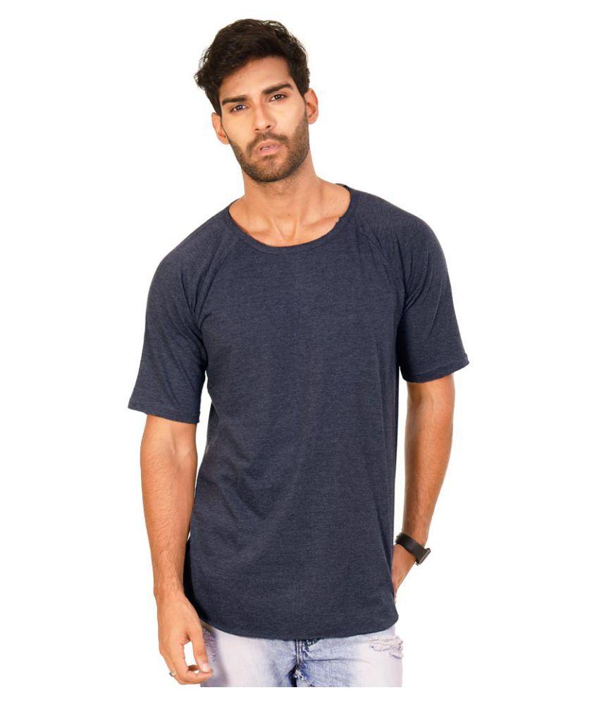 Halftone Navy Round T-Shirt