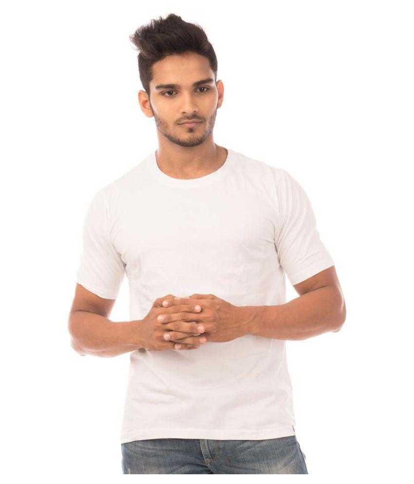 Halftone White Round T-Shirt