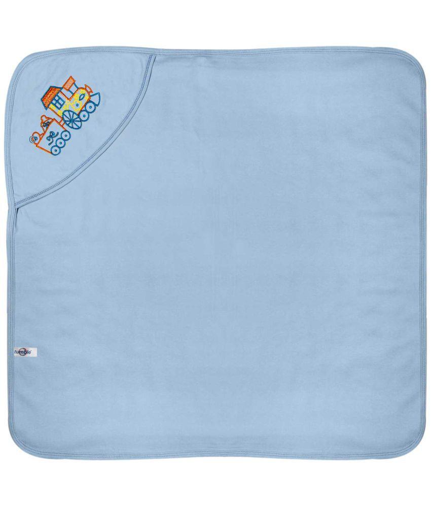 Tumble Blue Cotton Bath Towels Baby Blanket/Baby Swaddle/Baby Sleeping Bag